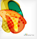 Round shapes abstract vector background Royalty Free Stock Photos