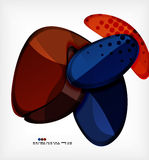 Round shapes abstract vector background Royalty Free Stock Images