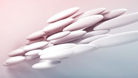 Round shapes formation, 3d render stock photo