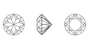 Round shapes of a gemstone. Wireframe Stock Images
