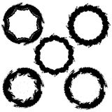 Round shapes, ink blots Royalty Free Stock Photos