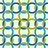 Round shapes lattice seamless pattern. Royalty Free Stock Images