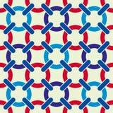 Round shapes lattice seamless pattern. Royalty Free Stock Photo