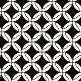 Round shapes netting seamless pattern, black and white vector background. Stock Images