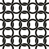 Round shapes netting seamless pattern, vector background. Stock Photos