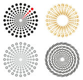 Round shapes set. Set of 4 isolated design elements in different colors Royalty Free Illustration
