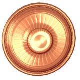 Round shield with sun image Stock Photos