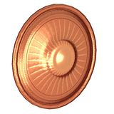 Round shield with sun image Stock Image