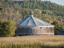 Round Shingled Vermont Barn Stock Photography