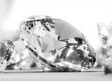 Round shining  diamond Stock Photo