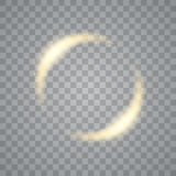Round shiny frame background with light bursts. Technology . Vector eps10. Stock Image