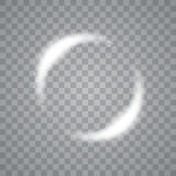 Round shiny frame background with light bursts. Technology . Vector eps10. Stock Photography
