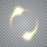 Round shiny frame background with light bursts. Technology . Vector eps10. Royalty Free Stock Images