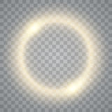 Round shiny frame background with lights. Abstract luxury light ring. Vector Royalty Free Stock Images