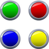 Round Shiny Glossy Framed Buttons Vector EPS10 royalty free stock photography