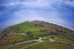 Round Sicily i morze Obrazy Royalty Free
