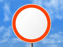 Round sign (clear). Clipping path for sign Royalty Free Stock Photos
