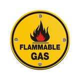 Round sign - flammable gas Royalty Free Stock Images