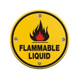 Round sign -flammable liquid Stock Images