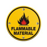 Round sign - flammable material Stock Image