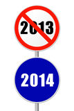 Round sign New Year Stock Photography