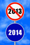 Round sign New Year Stock Images