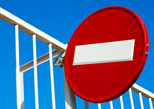 Round sign No Entry Stock Photography