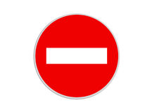 Round Sign No Entry Royalty Free Stock Image