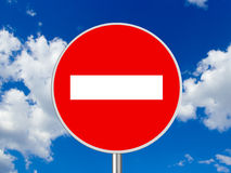 Round sign No Entry Stock Images