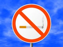 Round sign No smoking royalty free stock photo
