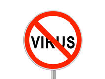 Round sign No Virus Stock Photo