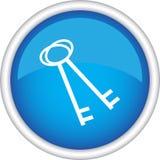 Round sign, symbol, keys Royalty Free Stock Photography