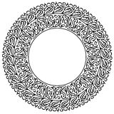 Round silhouette frame Stock Images