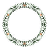 Round silhouette frame in art nouveau style Royalty Free Stock Photos