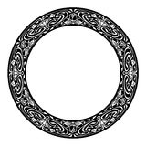 Round silhouette frame in art nouveau style Stock Image