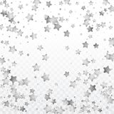 Round silver confetti. Foil silver confetti. Celebrate background. Watercolor golden sparkles and dots. Voucher backdrop. Luxury invitation card template Royalty Free Stock Photos