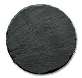 Round slate stand. Isolated on a white background Royalty Free Stock Photos