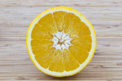 Round slice of orange Royalty Free Stock Photos