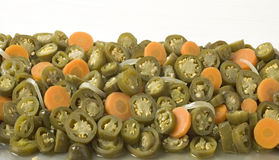 Round Sliced Jalapeno Chilies Stock Photography
