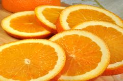 Round slices of juicy oranges Royalty Free Stock Photography