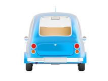 Round small car blue back Royalty Free Stock Image