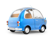 Round small car blue back Royalty Free Stock Photography