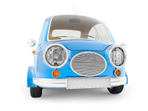 Round small car blue Royalty Free Stock Photos