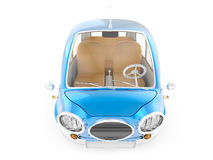 Round small car blue top Royalty Free Stock Photography