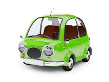 Round small car green Royalty Free Stock Photos
