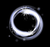 Round snow banner Royalty Free Stock Photos