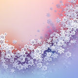Round snow frame with place for text. Royalty Free Stock Photo