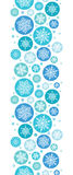 Round Snowflakes Vertical Seamless Pattern Stock Photo