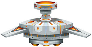 Round spaceship with wings Royalty Free Stock Photography