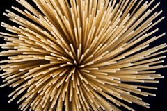 Round spaghetti Stock Image
